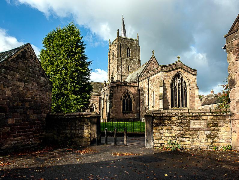 St. Mary's Parish Church. Located in Wirksworth, Derbyshire.