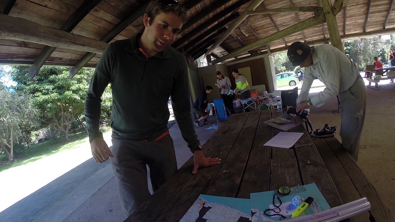 David Anderson-Smith getting ready for his first rogaine. <br /> <br /> Photo from Laure Gauthiez Putallaz, team 16