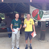 Tony Slatyer and Alain Menager - Men's Superveterans Winners for the 6hr event, second Men's Open and Men's Veterans.