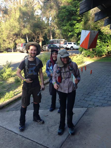 Team 33 finishing up (Charlotte Petersen, Dario Mavec, Caitlin McCluskey)