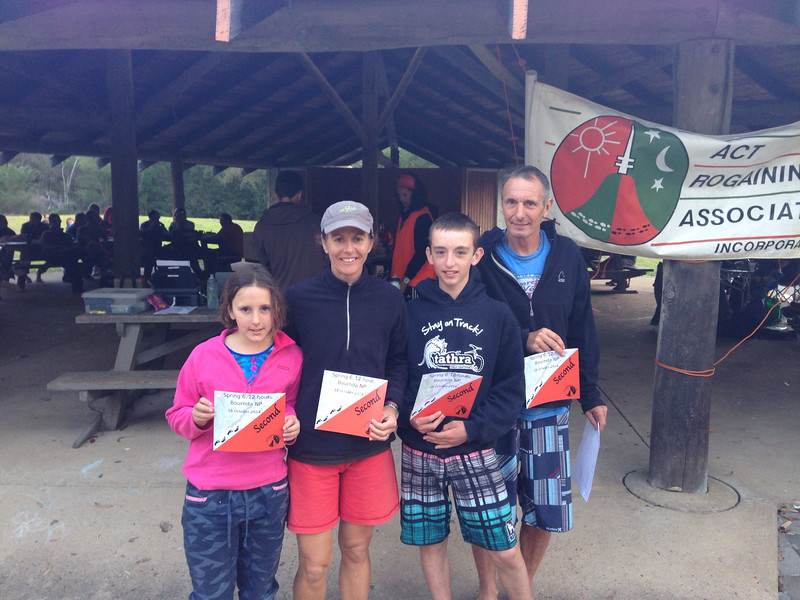 Livia Todd, Stacey George, Charlie Todd and Stephen Todd - second family team in the 6hr event.