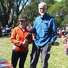 Jean Douglass and Ron Simpson - first Mixed Super Vets, second Mixed Vets and sixth overall.