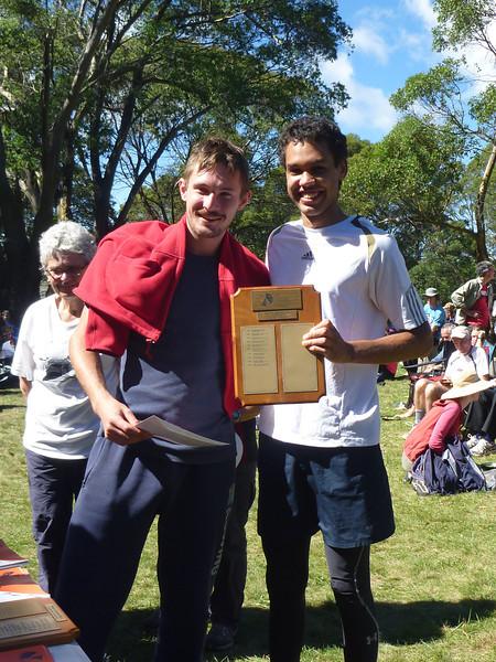 Tim Lindley and Rupert LeMessurier - first junior team, 2014 ACT Championships.