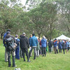 Perhaps getting in early wasn't a bad idea - the line for getting maps at the ACT Champs.
