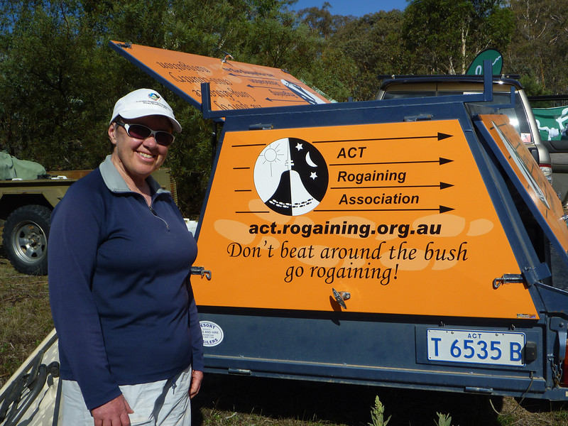Doesn't the new trailer look fab! Colleen Mock with her winning slogan on the ACTRA trailer.