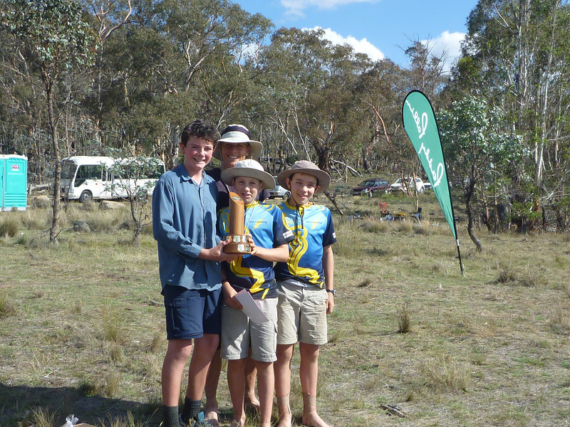 Winners of the family category - Alison Inglis, Patrick Miller, Tristan Miller and Noah Poland