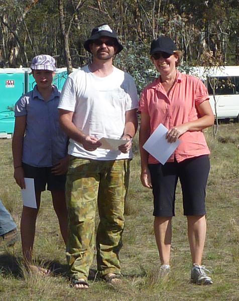 Second place in the family category - Karen and Jemma Duerden and Scott Howlett