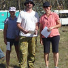 Second place in the family category - Karen and Jemma Duerden and Scott Howlett