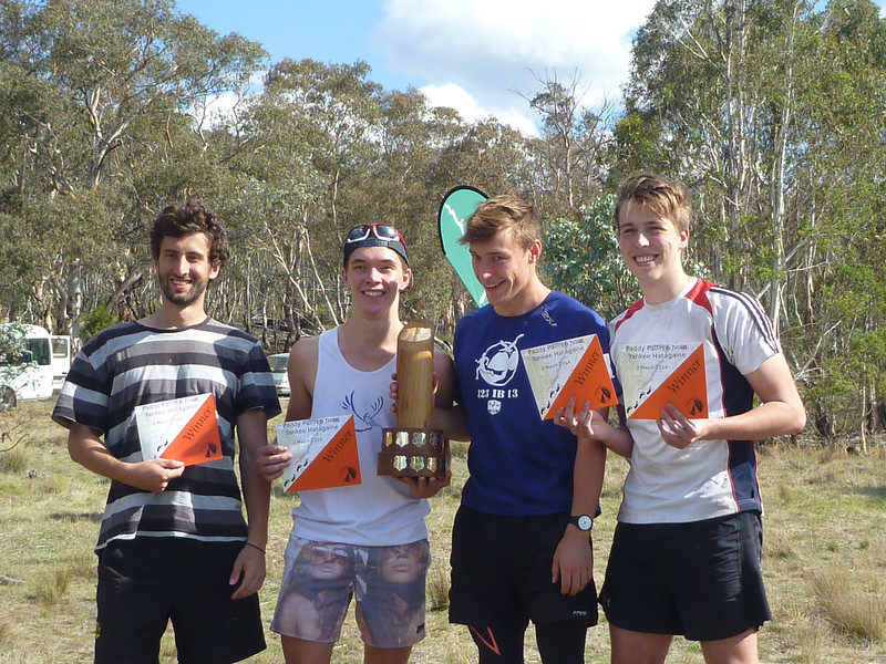 Winners of the 2014 Paddy Pallin event - David Ierace, Angus Hayes, William Brown and Joey Disendorf-Young.