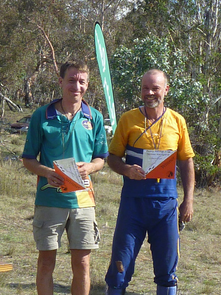Zac Zaharias and Bruce Barnett - second in the Men's Veteran's and 6th overall.