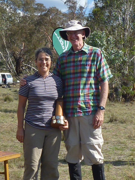 Marg and Rob Cook - winners of the Mixed Veterans/Superveterans