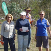 Parissa Poulis, Colleen Mock and Pat Miethke - winners of the Womens Superveterans and third in the Womens Veterans.