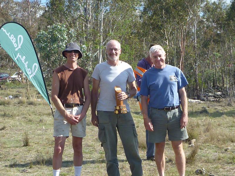 Ron Brent, Tony Slatyer and Mark Hurry - winners of the Men's Superveterans.