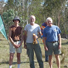 Ron Brent, Tony Slatyer and Mark Hurry - winners of the Men's Superveterans.
