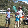Third in the family category - Lisa Cutfield, Nick, Sophie and Henry Lhuede.