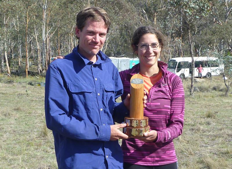 Mark Euston and Laure Gauthiez Putallaz - Mixed Open winners.