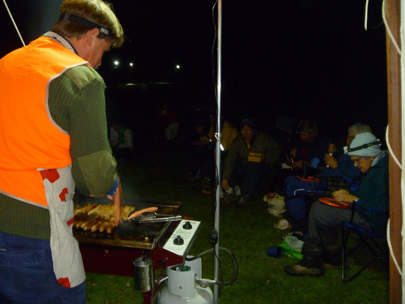 Doug cooking the midnight snack for hungry Nightgaine competitors.