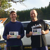 Men's Open and overall winners of the Footgaine - Jonathan Miller and David Poland.