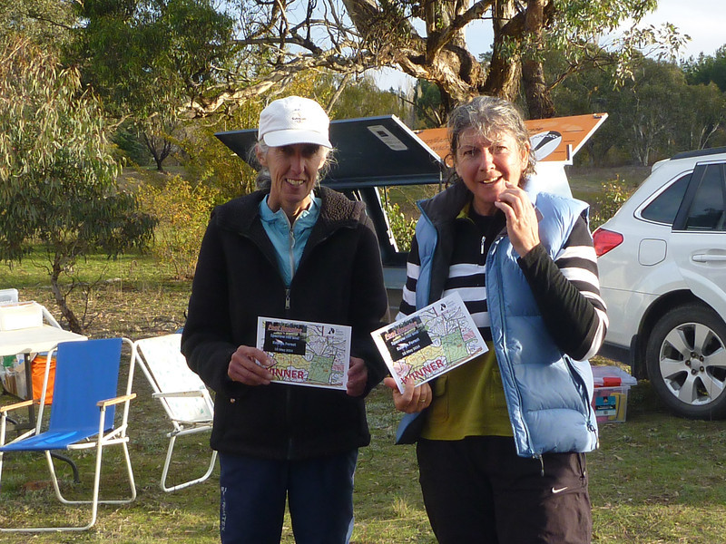 Carol Harding and Toni Brown - winners of the Women's Open (and Women's Vets) and second overall in the Footgaine.