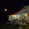 Moonrise over the hash house tent for the 2014 Nightgaine.