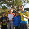 Family winners of the Cyclegaine - Peter Miller, Patrick Miller, Tristan Miller and Alison Inglis