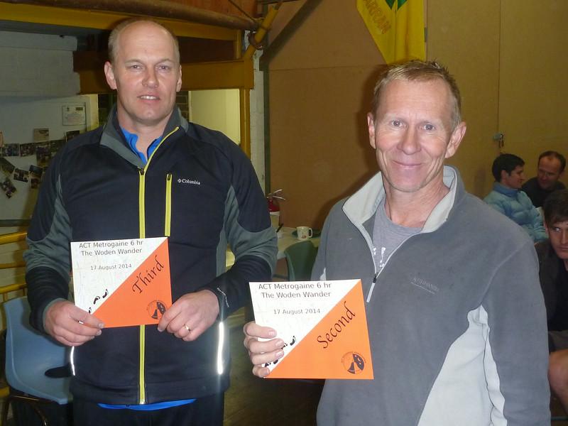 Third Men's Vets - Pauli Viljakainen and First (not second!) Men's Vets (and third overall) - Ari Piiroinen