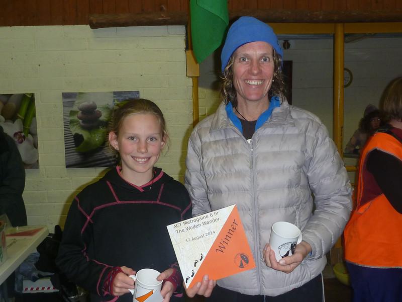 Family winners - Tara Sutherland and Ella Cuthbert