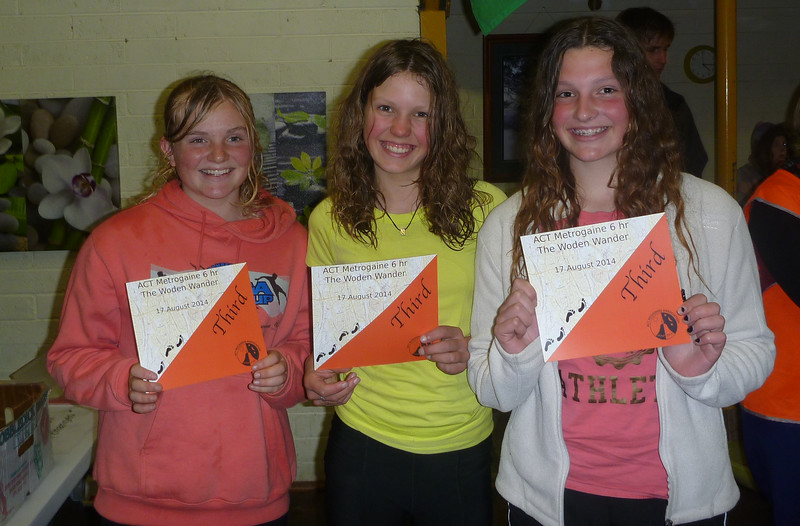 Third Juniors Team - Zoe Cuthbert, Ella Vardon and Ellie Boak