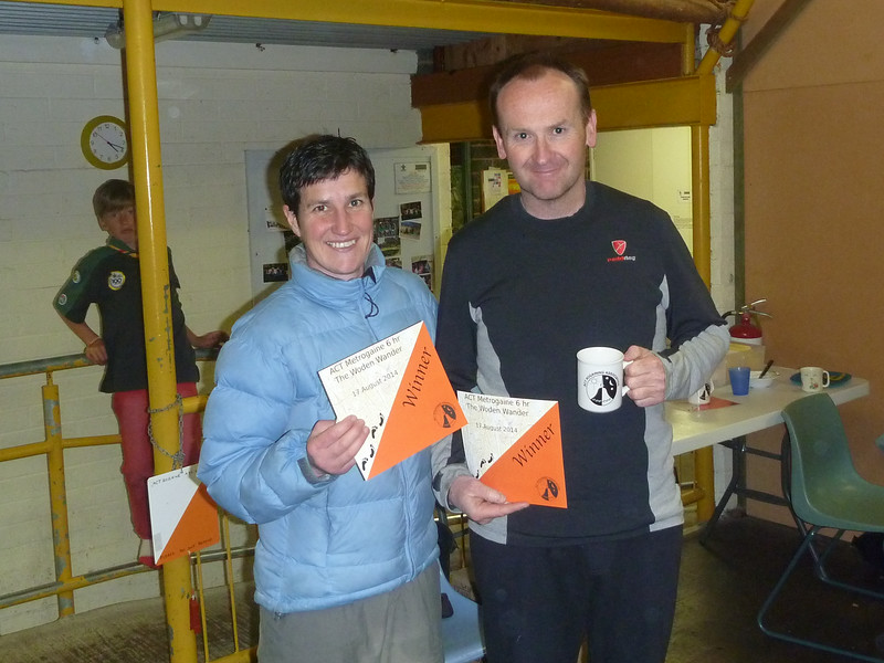 First Mixed Vets (third Mixed Open) - Lisa Cutfield and Nick Lhuede