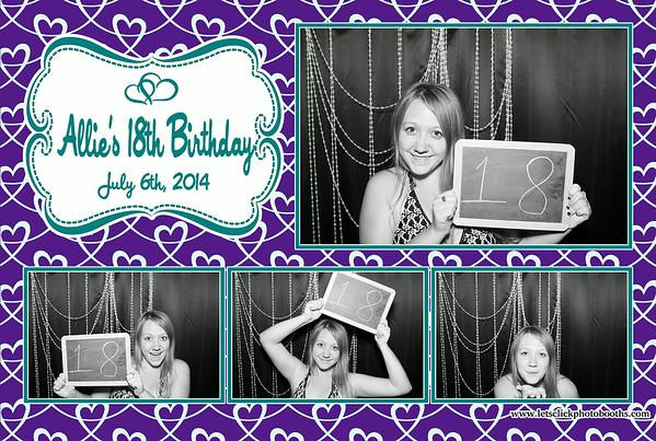 Allie's 18th Birthday