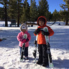Kids and their teeny skis