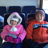 On the bus to the snow park