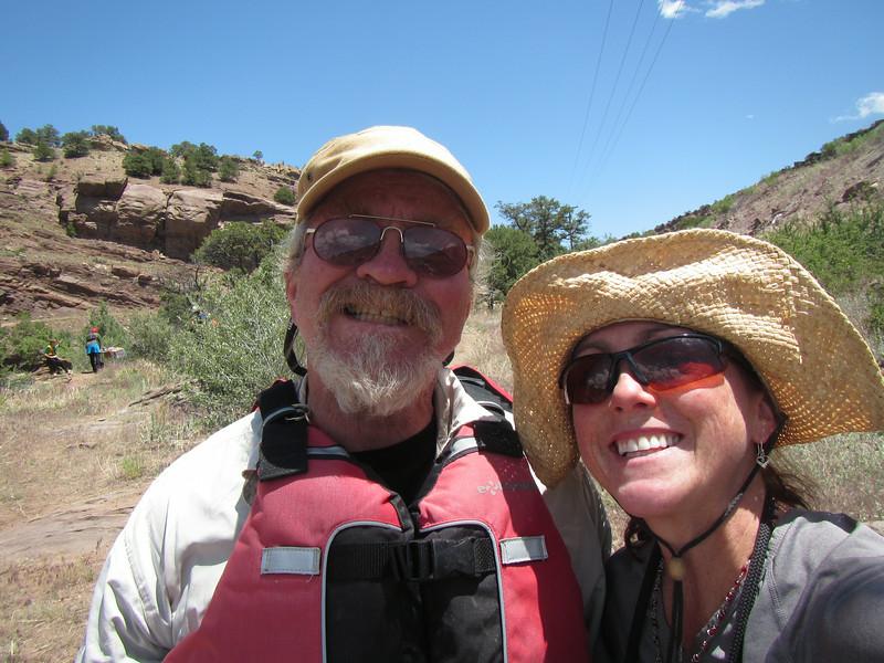 Joe and me safe on dry land