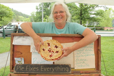 IMG_7028 JPG dana pape of On the  Edge Farm with strawberry rhubarb pie that fixes everything