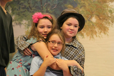 Clockwise from Ella Ballou, right, plays Vernon and Vera Windish, as Dudley and Ember Pikramenos as Petunia