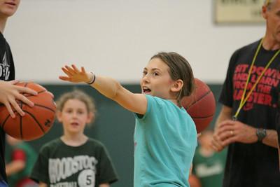 Norah Harper trying half-court shot