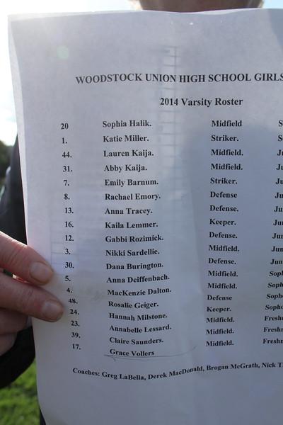 WUHS Girls Soccer vs Otter Valley