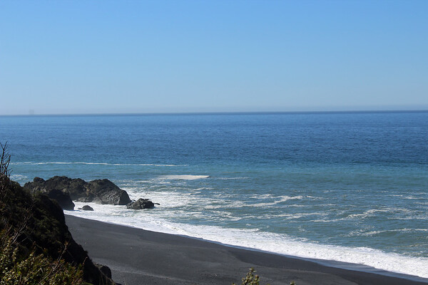 Blue Waters of The Black Sand Beach