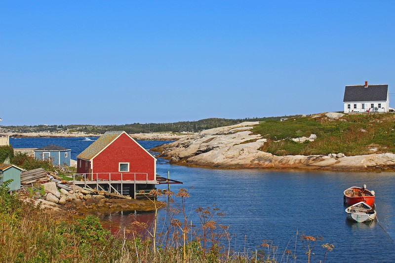 Red On Peggy's Cove