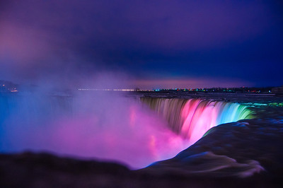 Colored Horseshoe Falls