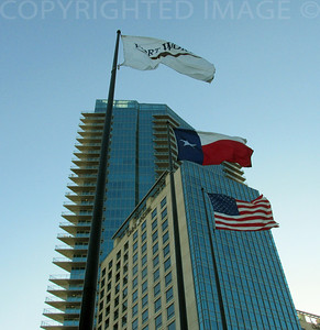 Flags Flying Over Fort Worth