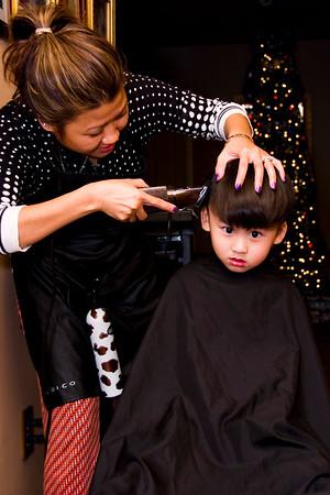 Nathan's Hair Cut:  December 16, 2014