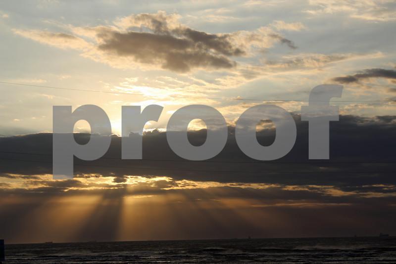 Sunrise Over Texas Coast