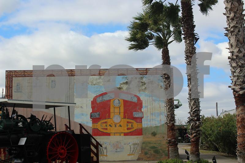 Santa Fe Railroad Train Mural