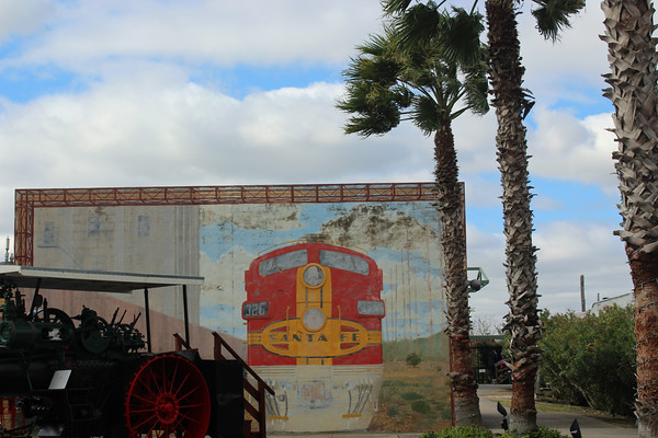 Santa Fe Railroad Train Mural