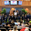 Attending members of the Hall of Fame are lauded by the audience at the National Museum of Racing and Hall of Fame induction ceremony held Aug. 4, 2017 at the Fasig Tipton auditorium in Saratoga Springs, N.Y. <br /> Photo by Skip Dickstein