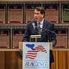 John Hendrickson, president speaks at the beginning of the induction ceremony held at the Finney Pavilion of the Fasig-Tipton Sales Company Friday Aug. 3, 2018 in Saratoga Springs, N.Y.  Photo by Skip Dickstein