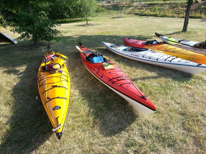 Heritage Paddle Kayaks on Shore