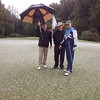 20141004 Wayne Eggleston, Maarten Wevers and Tim Fairhall in the snow and hail on the 1st green