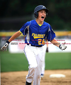 8/1/2014 Mike Orazzi | Staff Maine's Alexander Smith (26) rounds third base after a two run game winning home run in the bottom of the 6th inning to defeat New Hampshire 3-1 at Breen Field in Bristol on Friday.